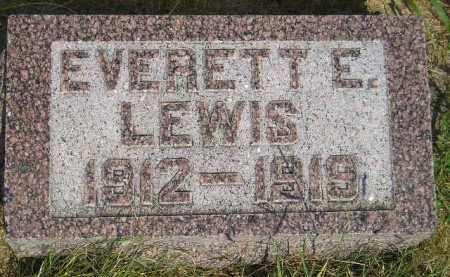 LEWIS, EVERETT E. - Miner County, South Dakota | EVERETT E. LEWIS - South Dakota Gravestone Photos