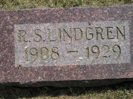 LINDGREN, R.S. - Miner County, South Dakota | R.S. LINDGREN - South Dakota Gravestone Photos