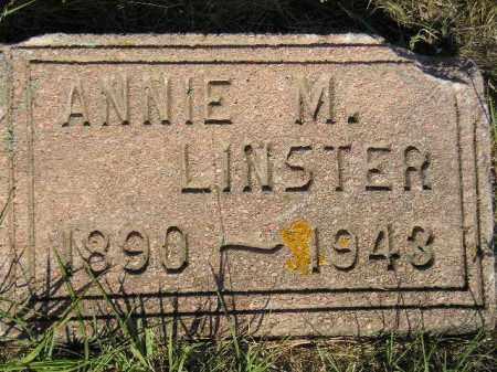 LINSTER, ANNIE M. - Miner County, South Dakota | ANNIE M. LINSTER - South Dakota Gravestone Photos