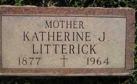 LITTERICK, KATHERINE J. - Miner County, South Dakota | KATHERINE J. LITTERICK - South Dakota Gravestone Photos