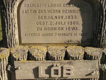 CLASOW LOB, CHARLOTTE LOUISE - Miner County, South Dakota | CHARLOTTE LOUISE CLASOW LOB - South Dakota Gravestone Photos