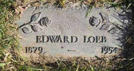 LOEB, EDWARD - Miner County, South Dakota | EDWARD LOEB - South Dakota Gravestone Photos