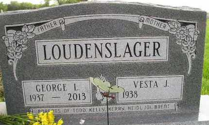 LOUDENSLAGER, GEORGE LUTHER - Miner County, South Dakota | GEORGE LUTHER LOUDENSLAGER - South Dakota Gravestone Photos