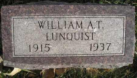 LUNQUIST, WILLIAM A.T. - Miner County, South Dakota | WILLIAM A.T. LUNQUIST - South Dakota Gravestone Photos