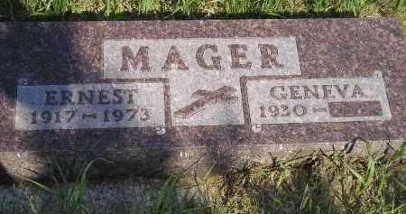 MAGER, GENEVA - Miner County, South Dakota | GENEVA MAGER - South Dakota Gravestone Photos