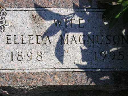 MAGNUSON, ELLEDA - Miner County, South Dakota | ELLEDA MAGNUSON - South Dakota Gravestone Photos
