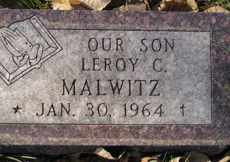 MALWITZ, LEROY C. - Miner County, South Dakota | LEROY C. MALWITZ - South Dakota Gravestone Photos