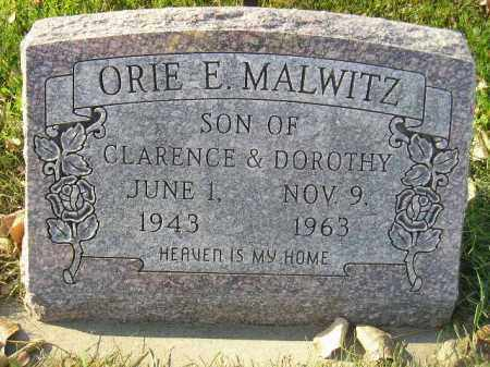 MALWITZ, ORIE E. - Miner County, South Dakota | ORIE E. MALWITZ - South Dakota Gravestone Photos