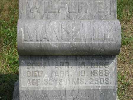 MANSELLE, WILFUR E. - Miner County, South Dakota | WILFUR E. MANSELLE - South Dakota Gravestone Photos