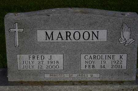 MAROON, FRED J. - Miner County, South Dakota | FRED J. MAROON - South Dakota Gravestone Photos