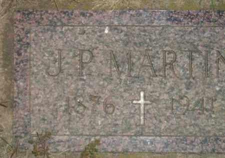 MARTIN, J.P. - Miner County, South Dakota | J.P. MARTIN - South Dakota Gravestone Photos
