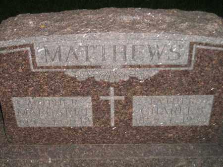 MATTHEWS, MARGARET - Miner County, South Dakota | MARGARET MATTHEWS - South Dakota Gravestone Photos