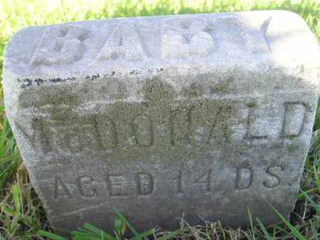 MCDONALD, BABY - Miner County, South Dakota | BABY MCDONALD - South Dakota Gravestone Photos