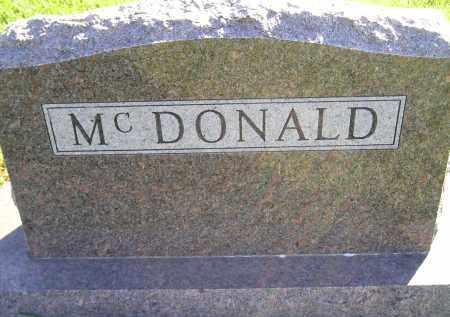 MCDONALD, FAMILY STONE - Miner County, South Dakota | FAMILY STONE MCDONALD - South Dakota Gravestone Photos