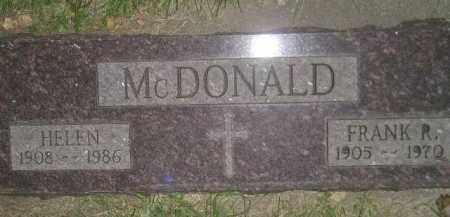 MCDONALD, HELEN LITTERICK - Miner County, South Dakota   HELEN LITTERICK MCDONALD - South Dakota Gravestone Photos