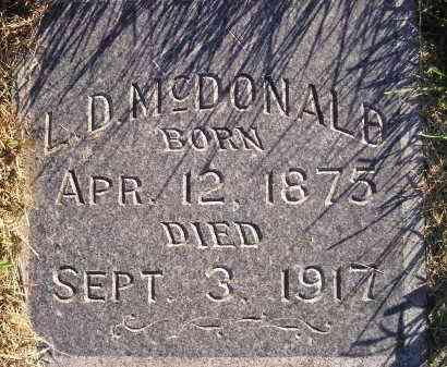 MCDONALD, L.D. - Miner County, South Dakota   L.D. MCDONALD - South Dakota Gravestone Photos