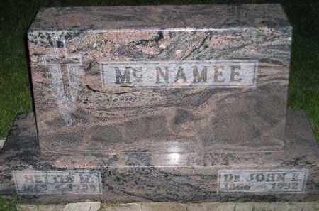 MCNAMEE, JOHN E. (DR.) - Miner County, South Dakota   JOHN E. (DR.) MCNAMEE - South Dakota Gravestone Photos