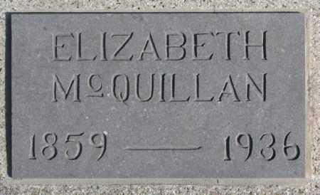 MCQUILLAN, ELIZABETH - Miner County, South Dakota | ELIZABETH MCQUILLAN - South Dakota Gravestone Photos