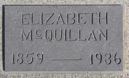 MCQUILLAN, ELIZABETH - Miner County, South Dakota | ELIZABETH MCQUILLAN - South Dakota Gravestone Photos