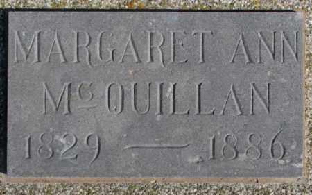 MCQUILLAN, MARGARET ANN - Miner County, South Dakota | MARGARET ANN MCQUILLAN - South Dakota Gravestone Photos