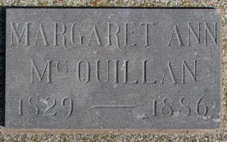 MCQUILLAN, MARGARET ANN - Miner County, South Dakota | MARGARET ANN MCQUILLAN - South Dakota Gravestone Photos