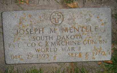 MENTELE, JOSEPH M. (WW I) - Miner County, South Dakota   JOSEPH M. (WW I) MENTELE - South Dakota Gravestone Photos