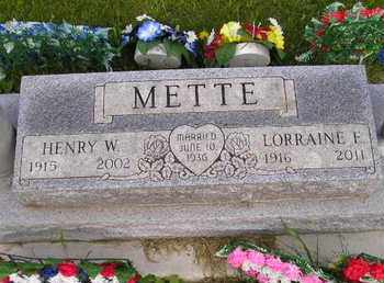 METTE, LORRAINE E - Miner County, South Dakota | LORRAINE E METTE - South Dakota Gravestone Photos