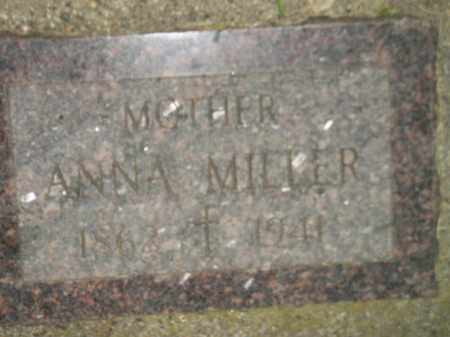 MILLER, ANNA - Miner County, South Dakota | ANNA MILLER - South Dakota Gravestone Photos