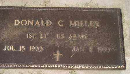 MILLER, DONALD C. (MILITARY) - Miner County, South Dakota | DONALD C. (MILITARY) MILLER - South Dakota Gravestone Photos
