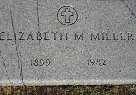 MILLER, ELIZABETH M. - Miner County, South Dakota | ELIZABETH M. MILLER - South Dakota Gravestone Photos