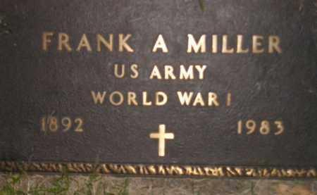 MILLER, FRANK A. (WW I) - Miner County, South Dakota | FRANK A. (WW I) MILLER - South Dakota Gravestone Photos