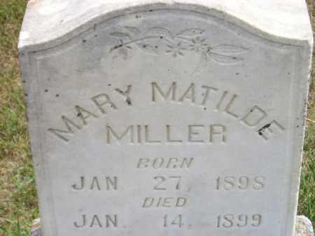 MILLER, MARY MATILDE - Miner County, South Dakota | MARY MATILDE MILLER - South Dakota Gravestone Photos
