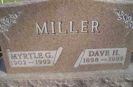 MILLER, DAVE H. - Miner County, South Dakota | DAVE H. MILLER - South Dakota Gravestone Photos