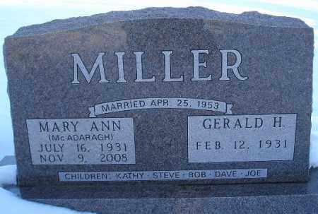 MCADARAGH MILLER, MARY ANN - Miner County, South Dakota   MARY ANN MCADARAGH MILLER - South Dakota Gravestone Photos