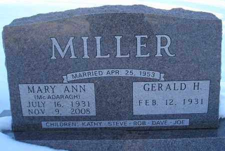 MCADARAGH MILLER, MARY ANN - Miner County, South Dakota | MARY ANN MCADARAGH MILLER - South Dakota Gravestone Photos