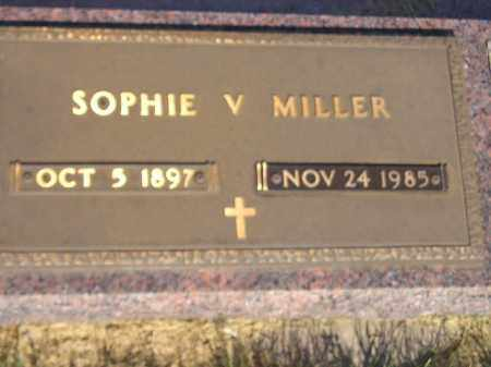 MILLER, SOPHIE V. - Miner County, South Dakota | SOPHIE V. MILLER - South Dakota Gravestone Photos