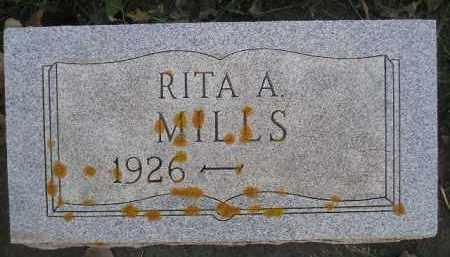 MILLS, RITA A. - Miner County, South Dakota | RITA A. MILLS - South Dakota Gravestone Photos