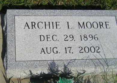 MOORE, ARCHIE L. - Miner County, South Dakota | ARCHIE L. MOORE - South Dakota Gravestone Photos