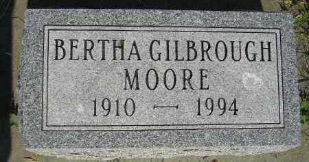 GILBROUGH MOORE, BERTHA - Miner County, South Dakota | BERTHA GILBROUGH MOORE - South Dakota Gravestone Photos