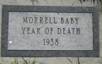 MORRELL, BABY - Miner County, South Dakota | BABY MORRELL - South Dakota Gravestone Photos