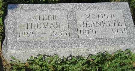 MORRIS, JEANETTE - Miner County, South Dakota | JEANETTE MORRIS - South Dakota Gravestone Photos