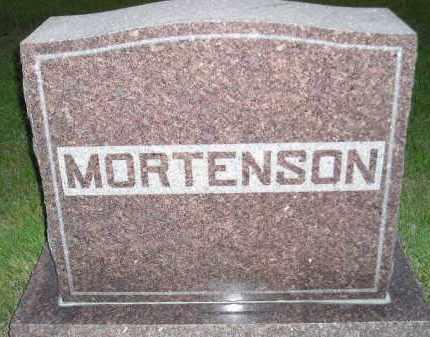 MORTENSON, FAMILY STONE - Miner County, South Dakota   FAMILY STONE MORTENSON - South Dakota Gravestone Photos