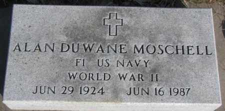 MOSCHELL, ALAN DUWANE (WW II) - Miner County, South Dakota | ALAN DUWANE (WW II) MOSCHELL - South Dakota Gravestone Photos