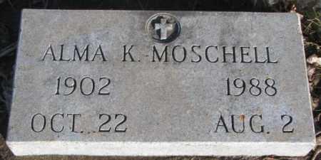 MOSCHELL, ALMA K. - Miner County, South Dakota | ALMA K. MOSCHELL - South Dakota Gravestone Photos