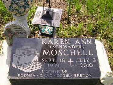 SCHWADER MOSCHELL, KAREN ANN - Miner County, South Dakota | KAREN ANN SCHWADER MOSCHELL - South Dakota Gravestone Photos