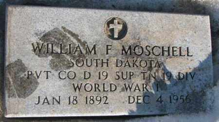 MOSCHELL, WILLIAM F. (WW I) - Miner County, South Dakota | WILLIAM F. (WW I) MOSCHELL - South Dakota Gravestone Photos