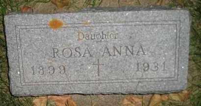 MUELLER, ROSA ANNA - Miner County, South Dakota | ROSA ANNA MUELLER - South Dakota Gravestone Photos