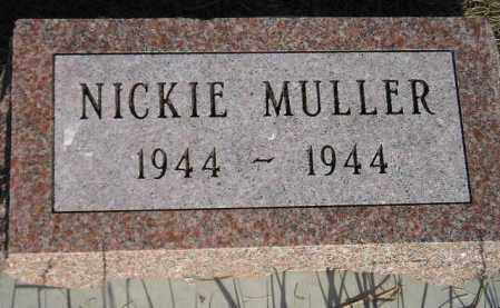 MULLER, NICKIE - Miner County, South Dakota | NICKIE MULLER - South Dakota Gravestone Photos