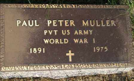 MULLER, PAUL PETER - Miner County, South Dakota | PAUL PETER MULLER - South Dakota Gravestone Photos