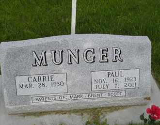 MUNGER, CARRIE - Miner County, South Dakota | CARRIE MUNGER - South Dakota Gravestone Photos